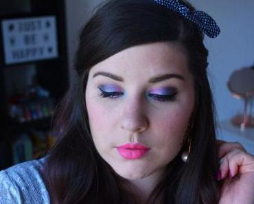 Makeup Bleu et Rose de Printemps