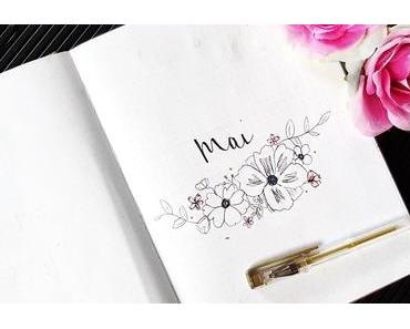 Bullet journal #4  Mai et ses jolies fleurs