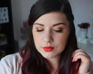 Makeup corail avec la palette Life's A Festival de Too Faced