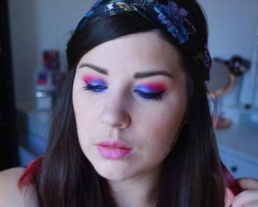 Blue and Pink ELECTRIC Makeup {Huda Beauty}