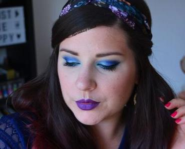 BLUE ELECTRIC MAKEUP {Huda Beauty}
