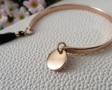 Bracelet rose gold Ligne D - Team Beautés Majuscules  #12