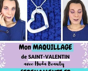 Mon maquillage de Saint-Valentin romantique avec Huda Beauty
